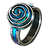 Fated End Paua Ring